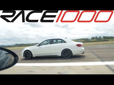 2014 Mercedes E63 AMG 4matic vs. Porsche Panamera Turbo (0-250kmh) - ROLL RACE