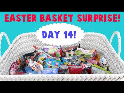 Surprise Easter Basket! Opening Blind Bag Toys! Day 14! Hank is Back!