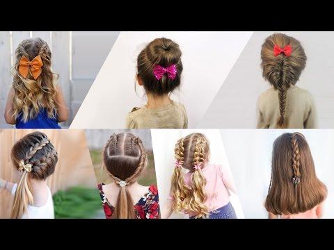 Фото простых причесок на каждый день для маленьких девочек