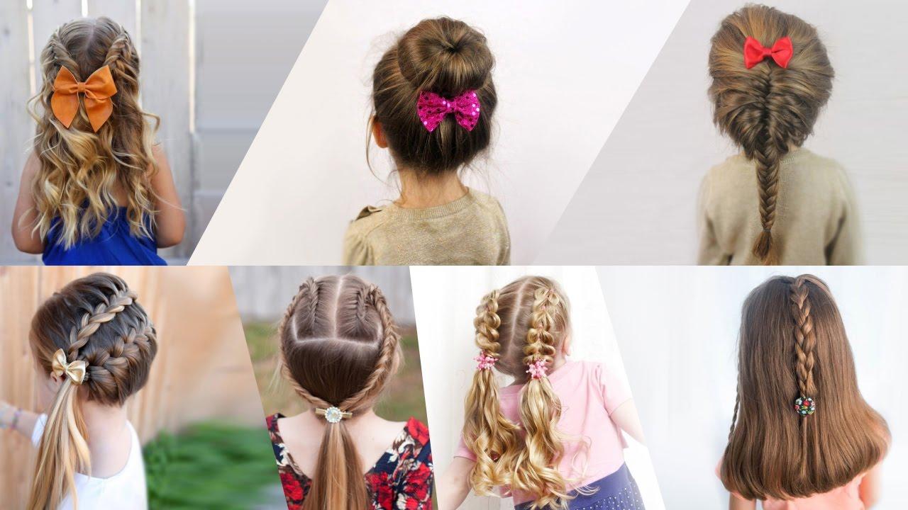 Простые и красивые прически для средних волос девочки