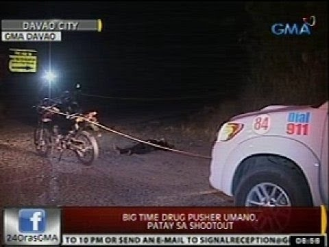 24 Oras: Big time drug pusher umano, patay sa shootout
