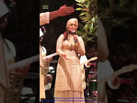 Download Lagu  Dilbaro Song Live, on the occasion of a ring ceremony of Akash Ambani. Performed by Harshdeep Kaur Mp3 Free