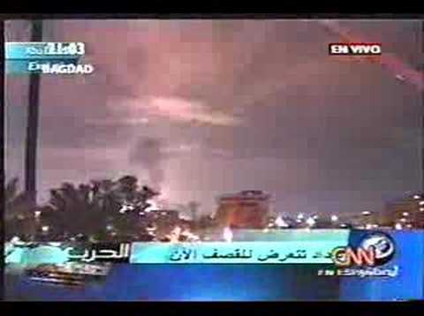 iraq war 2003 - Shock and awe live coverage tv