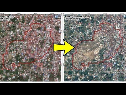 Penampakan Foto Satelit di Lokasi 'Likuifaksi' Lumpur Bergerak Pascagempa Palu, Rumah Terseret Tanah