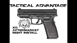 How to Install Sights on a Springfield Armory XD, Advantage Tactical with Firefly insert first look