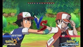 Pokemon Battle USUM: Kanto Ash Vs Red (Pokémon Let's Go Red Dimension)