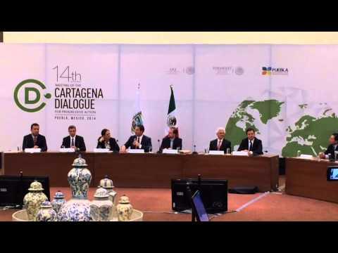 Moreno Valle invites specialist to get to know Puebla during Cartagena Dialogue