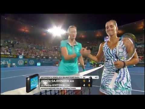 Jarmila Gajdosova v Petra Kvitova highlights (QF) - Apia International Sydney 2015