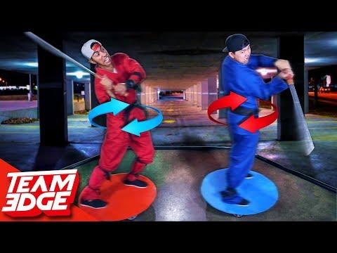 GIANT Spinning Ninja Duel!!
