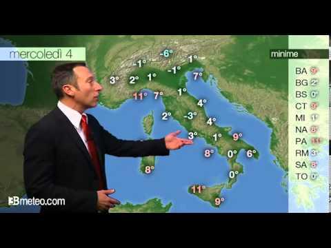 Previsioni meteo Video per mercoledi, 04 dicembre