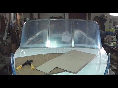 Изготовление лобового стекла на лодку своими руками 61