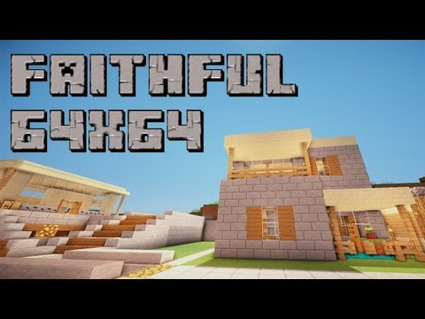 Minecraft 1.6.2/1.6.4: Faithful (64x64 Resource Pack Review)