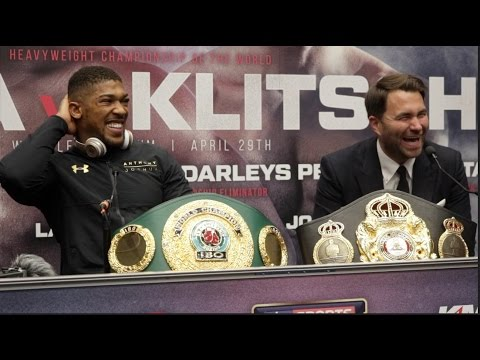 ANTHONY JOSHUA v WLADIMIR KLITSCHKO - {FULL & COMPLETE} WEMBLEY POST FIGHT PRESS CONFERENCE