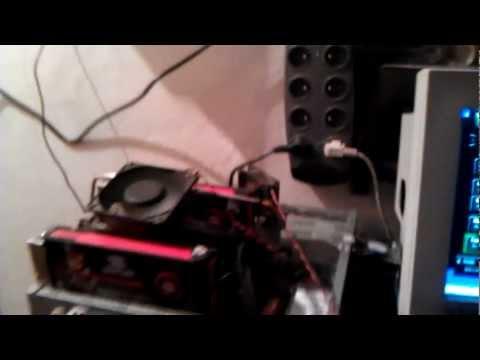 Bitcoin Mining Rig 5x ATI HD 5850