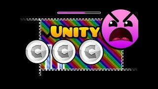 (Insane) Unity 100% 2/3 Coins | by TriAxis and Funnygame | Geometry Dash