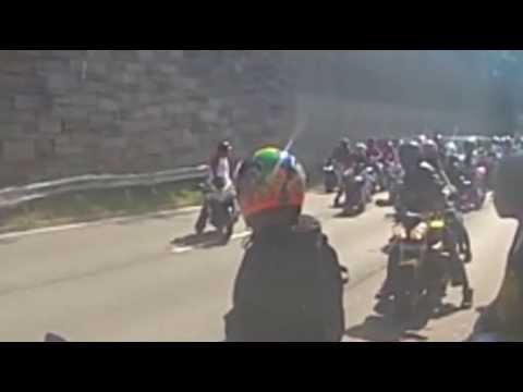 VIDEO ENHANCEMENT of ROAD RAGE NYC Bikers vs SUV attack  New York City Motorcycle assault