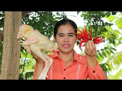 Amazing Cooking Fry Chicken Spicy Delicious Recipe-Eating Fry Chicken Delicious-Village Food Factory