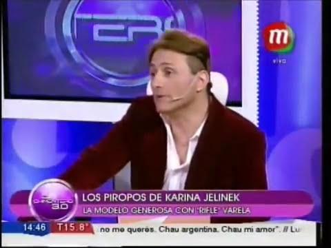 Karina Jelinek enamorada del Rifle Varela