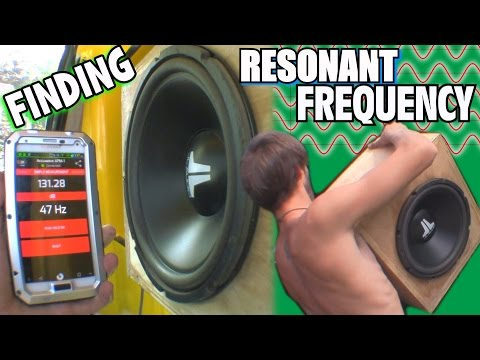 Finding Resonant Frequency w/ Sealed Subwoofer Box & BASS SWEEP | 12