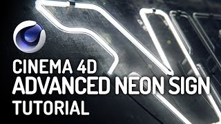 Create Your Own Neon Sign in Cinema 4D - Advanced Tutorial