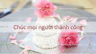 Tự trang trí bánh cưới Mini