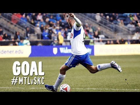 GOAL: Marco Di Vaio heads the equalizer to the back post   Montreal Impact vs. Sporting Kansas City