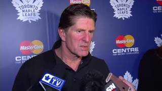 Maple Leafs Practice: Mike Babcock - November 9, 2016