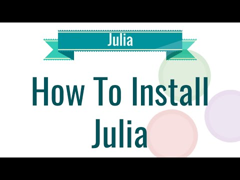 How to install Julia on Windows
