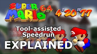 How Mario 64 was solved using parallel universes - Super Mario 64 Tool-Assisted Speedrun Explained