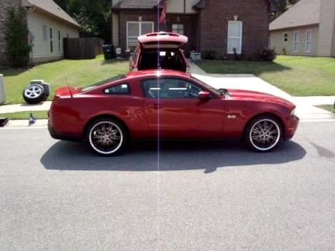2011 Mustang Gt 5 0 With Shelby Cs66 Wheels Rims Are For