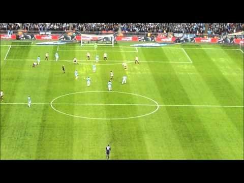 Yaya Toure Goal against Sunderland at Wembley 2014 in the capital one cup