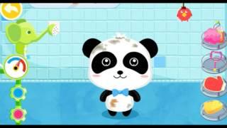 мультики для малышей Сборник уход за пандой Кики Малыш Панда, купаем Кики,  еда для животных