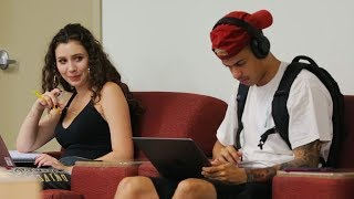 Blasting INAPPROPRIATE Songs (PART 12) in the Library PRANK