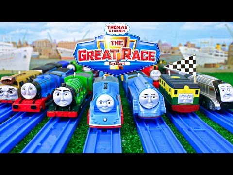 THOMAS AND FRIENDS THE GREAT RACE COMPILATION| TRACKMASTER THOMAS & FRIENDS TOY TRAINS