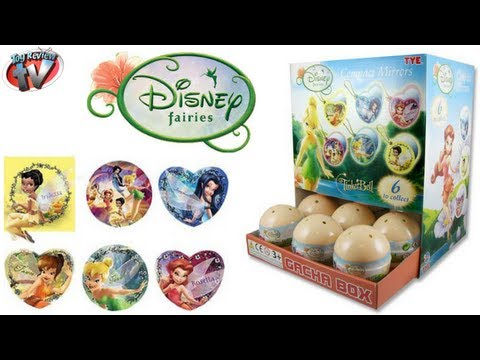 Disney Fairies Tinker Bell Mystery Surprise Egg Compact Mirrors Toy Review. Gacha Tomy. Easter