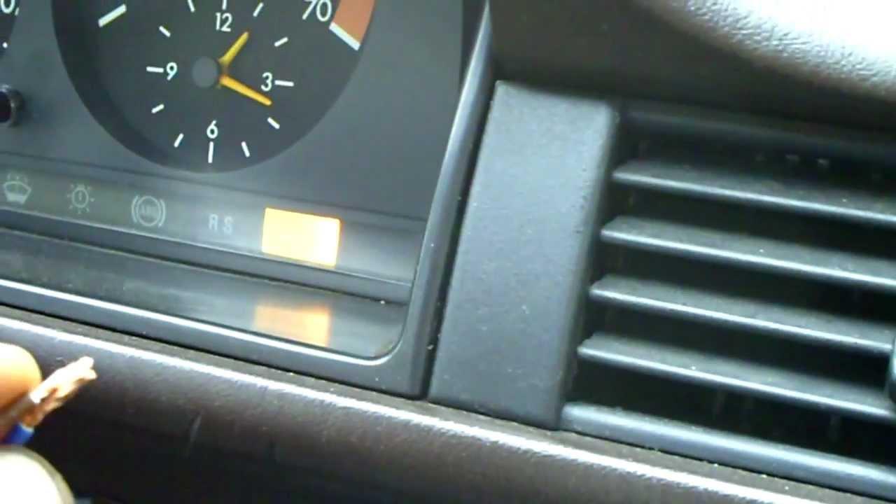 Mercedes W124 ASD Fehlerspeicher auslesen & löschen - YouTube