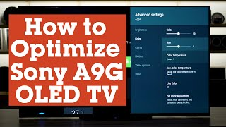 02. How to optimize the settings on your Sony MASTER Series A9G OLED TV | Crutchfield