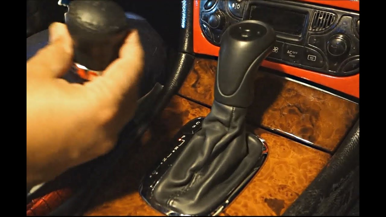 How to replace mercedes shift knob on clk class w209 for Mercedes benz not shifting gears