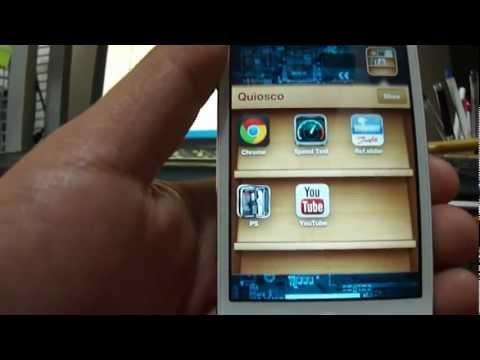 Mover apps(aplicaciones) a carpeta Quiosco en iPhone.iPod touch.iPad.