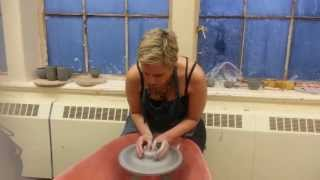 Centering, Coning and Pulling  - Learning Pottery With Kate 3/5