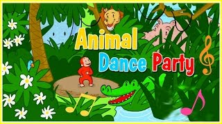 ♡ Curious George / Jorge el Curioso - Animal Dance Party Funny Musical Game For Kids English