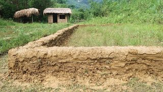Primitive Skills: Fish Pond-Part2-Build fish ponds made of clay