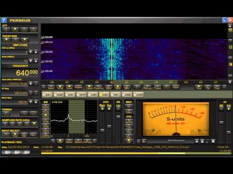 640 KHz KFI Los Angeles, CA. | Medium Wave DX | Perseus SDR from Michigan