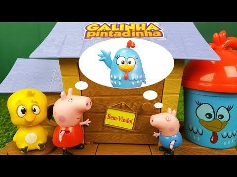 Procurando Galinha Pintadinha Com Peppa Pig Toy Cake