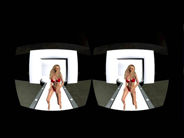 Oculus Rift VR Ready Virtual Reality - Dancing Bikini Girl - First VR Video/Movie in 3D Stereo