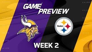 Minnesota Vikings vs. Pittsburgh Steelers | Week 2 Game Preview | Move the Sticks