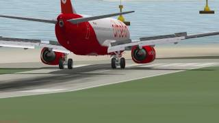 Crazy 737 Landing at St. Barts Runway 10! X-Plane 9 [HD]