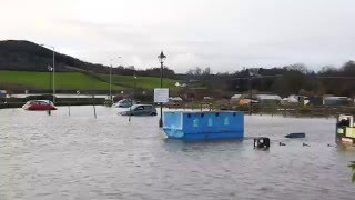 Big flood in Corbridge North East UK