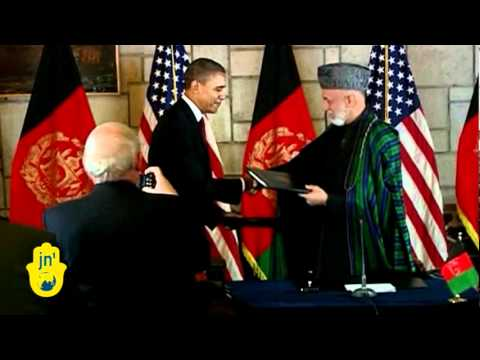Barack Obama Visits Afghanistan To Sign Postwar Agreement with Hamid Karzai in Kabul