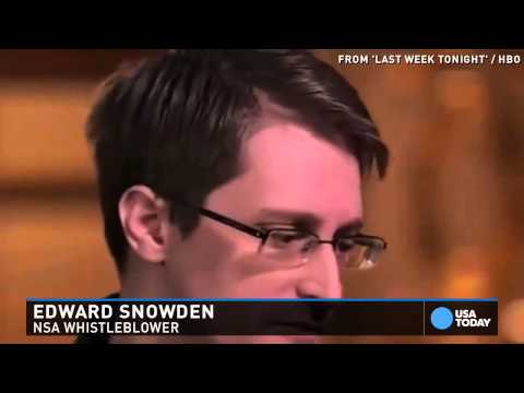 Edward Snowden to John Oliver: Don't stop sexting